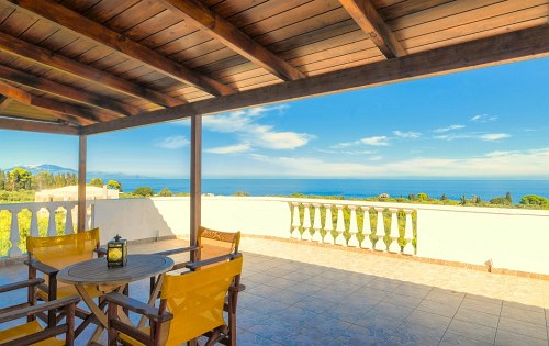 three-bedroom apartment with sea view parys villas zakynthos zante